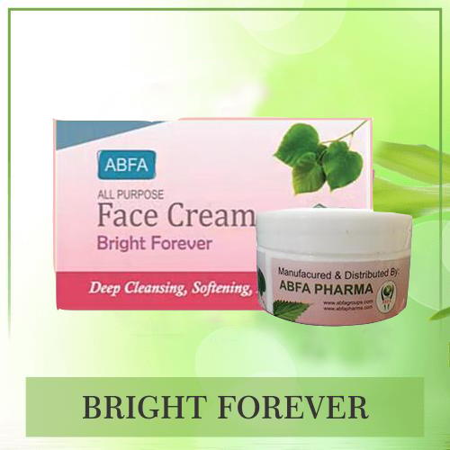 Bright Forever Cream, herbal cream, herbal product, face beauty, skin beauty, glowing skin,